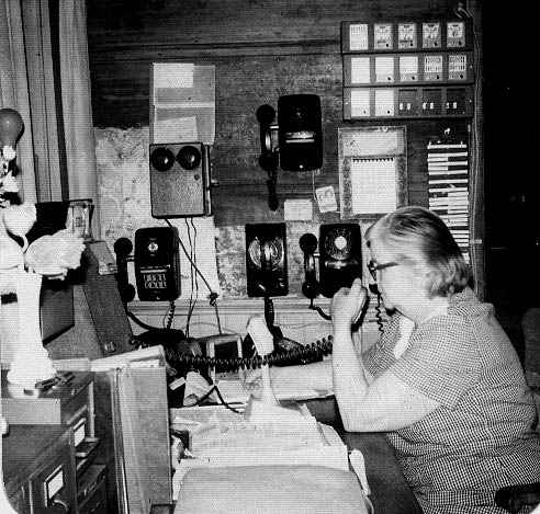 Rheta McGilvray, dispatching from home, '73