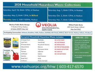 Household Hazardous Waste Collection Flyer