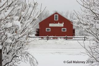 Lawrence Barn in the winter